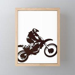Motor X Silhouette Framed Mini Art Print
