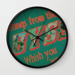 Welcome to the Abyss Wall Clock