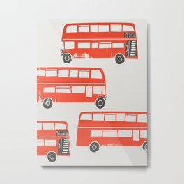 London Double Decker Red Bus Metal Print