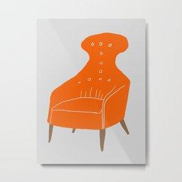 Orange Chair Metal Print