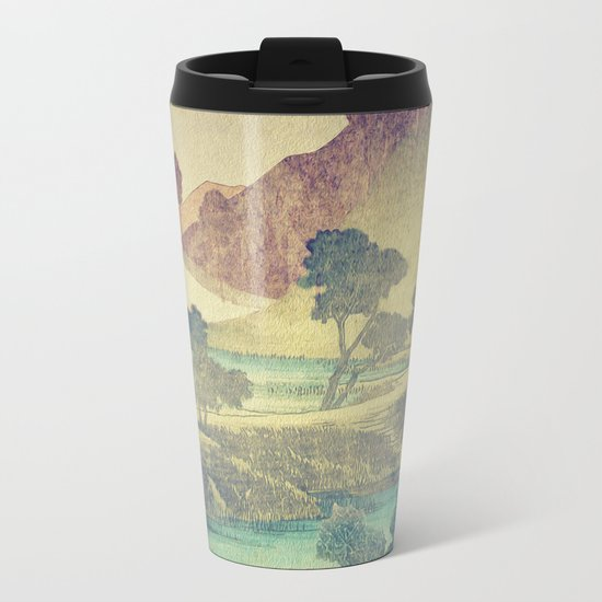A Valley in the Evening Metal Travel Mug