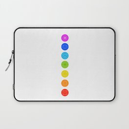 Chakra symbols with respective colors- Spiritual gifts Laptop Sleeve