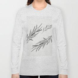 Eucalyptus leaves black and white Long Sleeve T-shirt