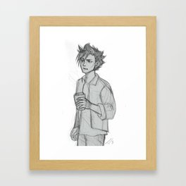 Dumpster Boy Framed Art Print