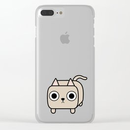 Cat Loaf - Cream Kitty Clear iPhone Case