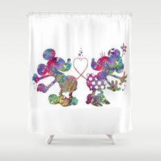 Mickey Loves Minnie Shower Curtain