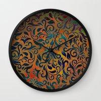 antique Wall Clocks featuring ANTIQUE PATTERN by Klara Acel