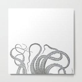 Vintage kraken octopus tentacles nautical antique sea creature steampunk graphic print Metal Print
