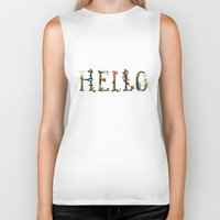 hello Biker Tanks featuring HELLO by La Farme