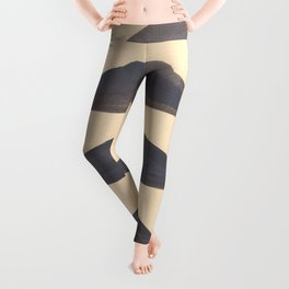 Gray Geometric Triangle Pattern With Black Accent Leggings