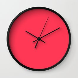 Sizzling Red - solid color Wall Clock