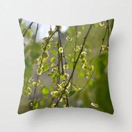 Having a Green Moment Throw Pillow