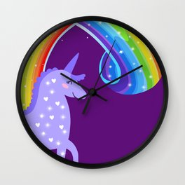 Leave A Little Sparkle Wherever You Go Wall Clock