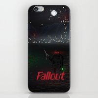 fallout iPhone & iPod Skins featuring Fallout Pixels by Kazisvet