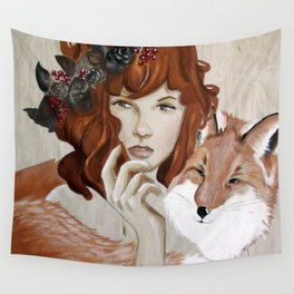 Autumn Fox Wall Tapestry