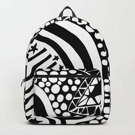Soul Of The Dream Desert - Star Gazer (Black and White Edition) Backpack