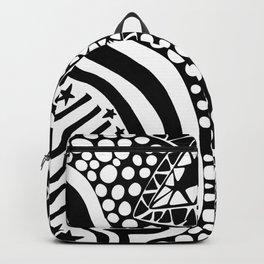 Soul Of The Dream Desert - Star Gazer (Black and White Edition) Backpack