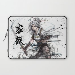 Samurai Girl with Japanese Calligraphy - Family - Ciri Parody Laptop Sleeve