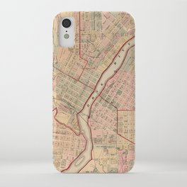 Vintage Map of Rockford IL (1886) iPhone Case