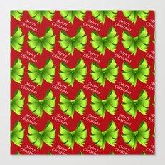 Merry Christmas Bows Canvas Print