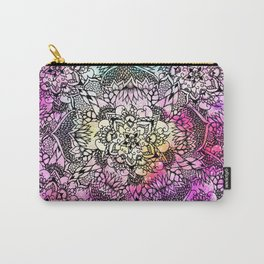 Floral mandala handdrawn pink nebula watercolor Carry-All Pouch