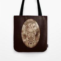"victorian Tote Bags featuring ""VICTORIAN GHOST"" by Giulio Rossi"