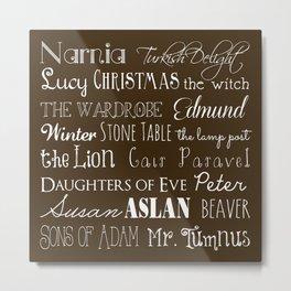 Narnia Celebration - Mocha Metal Print