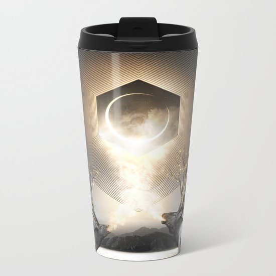 Moon Dust In Your Lungs Metal Travel Mug