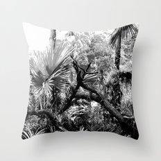 Singapore Botanical Garden 2 - Black & White Throw Pillow
