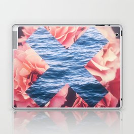 flowers - roses - ocean - waves Laptop & iPad Skin