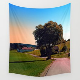 A tree, a road and summertime Wall Tapestry