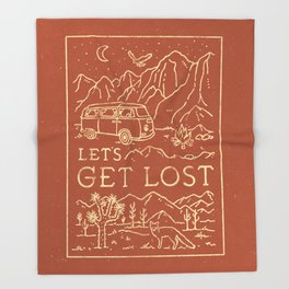 Let's Get Lost Throw Blanket