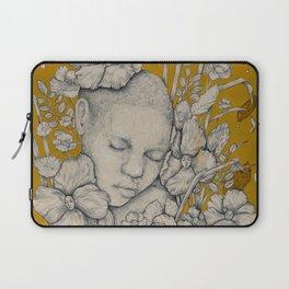 """""""Guardians"""" - Surreal Floral Portrait Illustration Laptop Sleeve"""