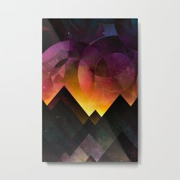 Whimsical mountain nights Metal Print