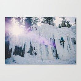 Ice Climbing Canvas Print