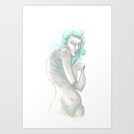 Lady Turquoise Art Print