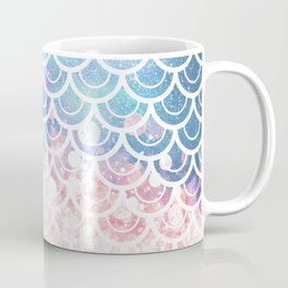 Mermaid Scales Turquoise Pink Sunset Coffee Mug