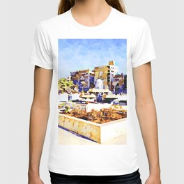 Square of Aleppo with fountain T-shirt