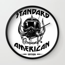 American Motorhead Standard American Edition Wall Clock