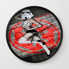 Holly Dawn Trooper Wall Clock