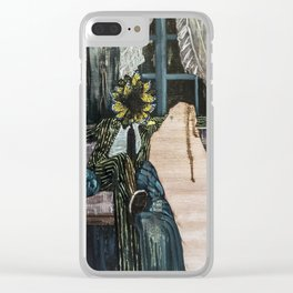 The King of Swords (Reversed) Clear iPhone Case