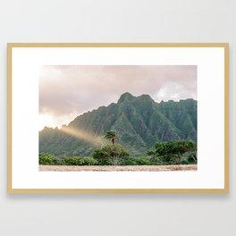Kualoa Ranch Light Framed Art Print