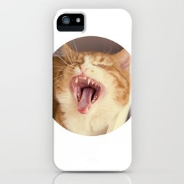 Kristofferson cat yawns iPhone Case