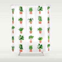 Plant Pots Shower Curtain