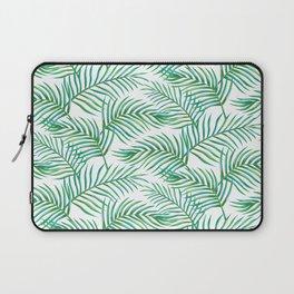Palm Leaves_Bg White Laptop Sleeve