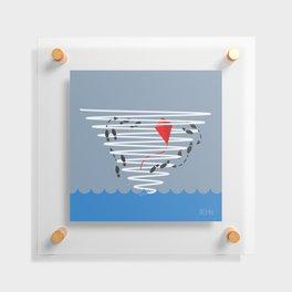 Kite Dancing in a Hurricane  Floating Acrylic Print