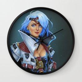 Cyber girl Wall Clock