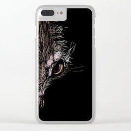 The strange Aye Aye. Clear iPhone Case