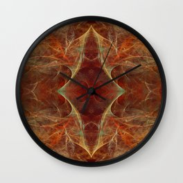 Abstract texture in autumn tones Wall Clock