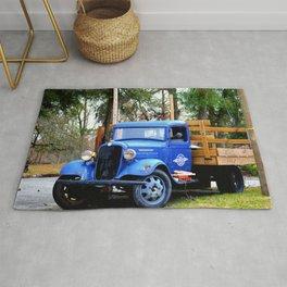 Blue Aged Truck Rug